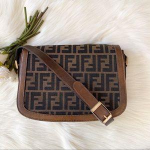 Fendi Zucca Messenger Shoulder Bag